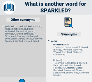 Sparkled, synonym Sparkled, another word for Sparkled, words like Sparkled, thesaurus Sparkled