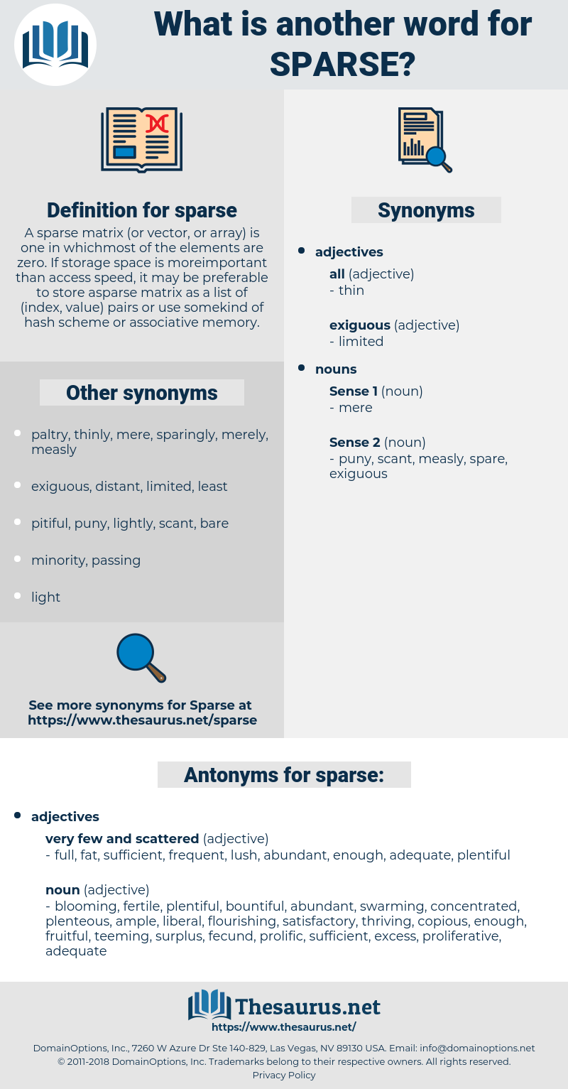 sparse, synonym sparse, another word for sparse, words like sparse, thesaurus sparse