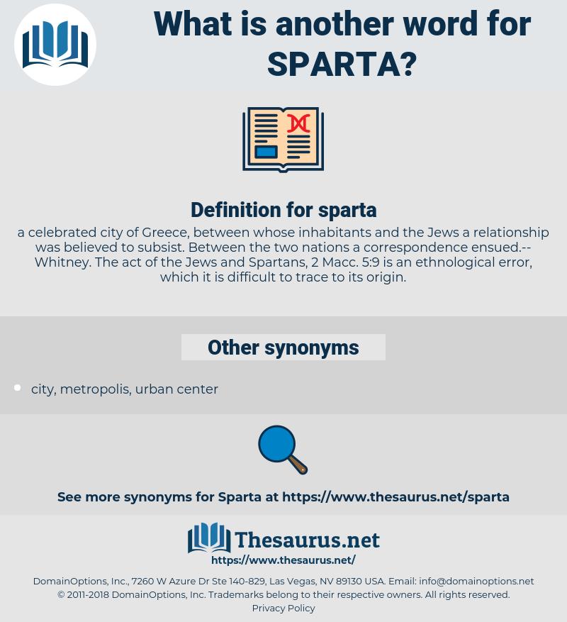 sparta, synonym sparta, another word for sparta, words like sparta, thesaurus sparta