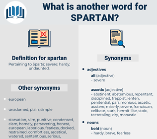 spartan, synonym spartan, another word for spartan, words like spartan, thesaurus spartan