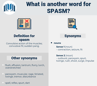 spasm, synonym spasm, another word for spasm, words like spasm, thesaurus spasm