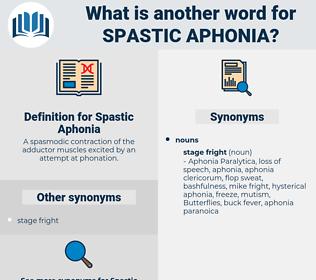Spastic Aphonia, synonym Spastic Aphonia, another word for Spastic Aphonia, words like Spastic Aphonia, thesaurus Spastic Aphonia