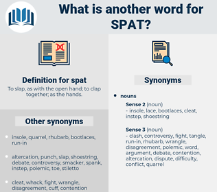 spat, synonym spat, another word for spat, words like spat, thesaurus spat