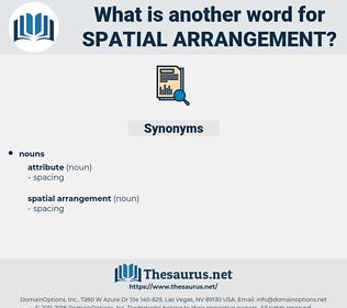 spatial arrangement, synonym spatial arrangement, another word for spatial arrangement, words like spatial arrangement, thesaurus spatial arrangement