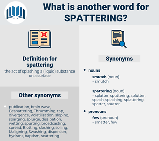 spattering, synonym spattering, another word for spattering, words like spattering, thesaurus spattering