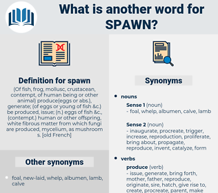spawn, synonym spawn, another word for spawn, words like spawn, thesaurus spawn