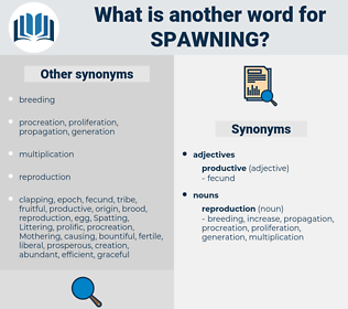 Spawning, synonym Spawning, another word for Spawning, words like Spawning, thesaurus Spawning