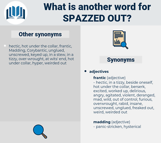 spazzed out, synonym spazzed out, another word for spazzed out, words like spazzed out, thesaurus spazzed out