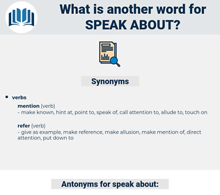 speak about, synonym speak about, another word for speak about, words like speak about, thesaurus speak about