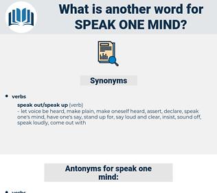 speak one mind, synonym speak one mind, another word for speak one mind, words like speak one mind, thesaurus speak one mind