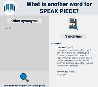 speak piece, synonym speak piece, another word for speak piece, words like speak piece, thesaurus speak piece