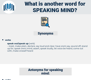 speaking mind, synonym speaking mind, another word for speaking mind, words like speaking mind, thesaurus speaking mind