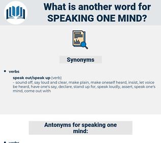 speaking one mind, synonym speaking one mind, another word for speaking one mind, words like speaking one mind, thesaurus speaking one mind