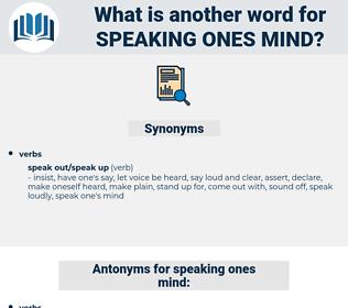 speaking ones mind, synonym speaking ones mind, another word for speaking ones mind, words like speaking ones mind, thesaurus speaking ones mind