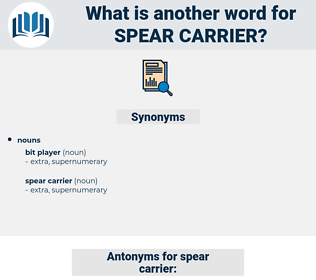 spear carrier, synonym spear carrier, another word for spear carrier, words like spear carrier, thesaurus spear carrier