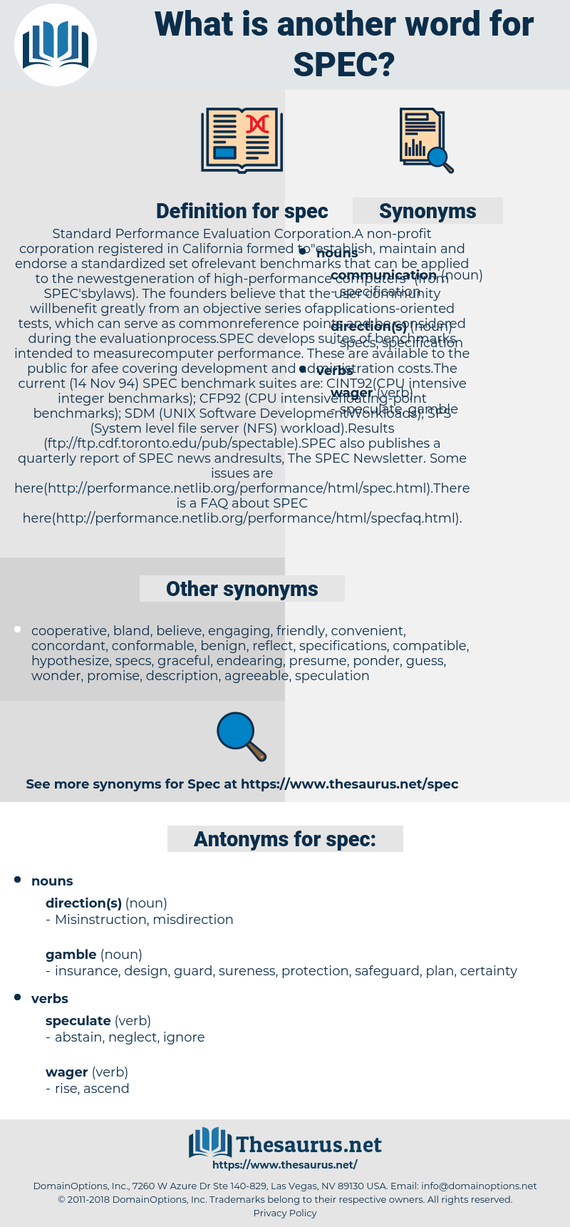 spec, synonym spec, another word for spec, words like spec, thesaurus spec