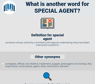 special agent, synonym special agent, another word for special agent, words like special agent, thesaurus special agent