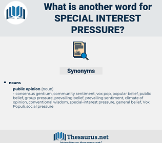 special-interest pressure, synonym special-interest pressure, another word for special-interest pressure, words like special-interest pressure, thesaurus special-interest pressure
