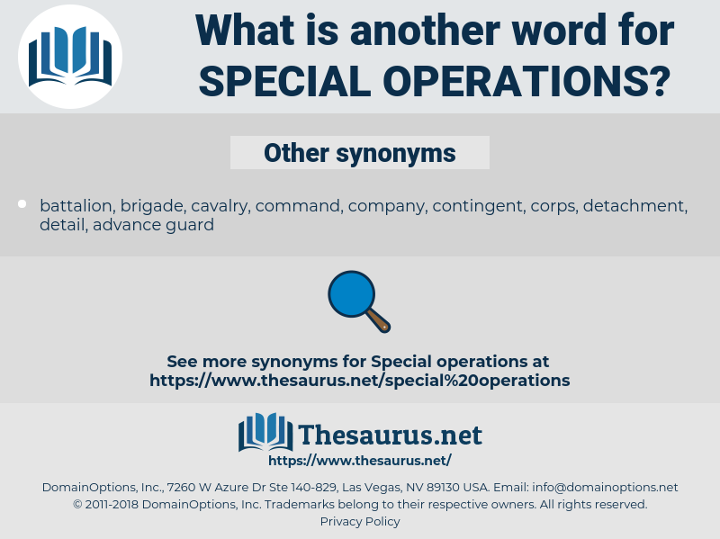 special operations, synonym special operations, another word for special operations, words like special operations, thesaurus special operations