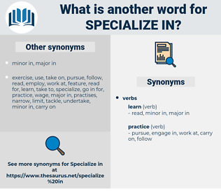 specialize in, synonym specialize in, another word for specialize in, words like specialize in, thesaurus specialize in