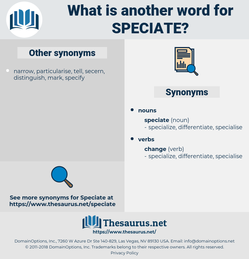 speciate, synonym speciate, another word for speciate, words like speciate, thesaurus speciate