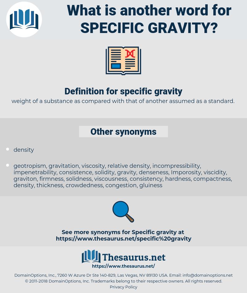 specific gravity, synonym specific gravity, another word for specific gravity, words like specific gravity, thesaurus specific gravity