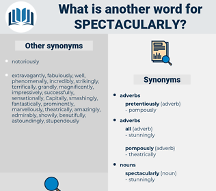spectacularly, synonym spectacularly, another word for spectacularly, words like spectacularly, thesaurus spectacularly