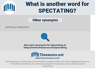 spectating, synonym spectating, another word for spectating, words like spectating, thesaurus spectating