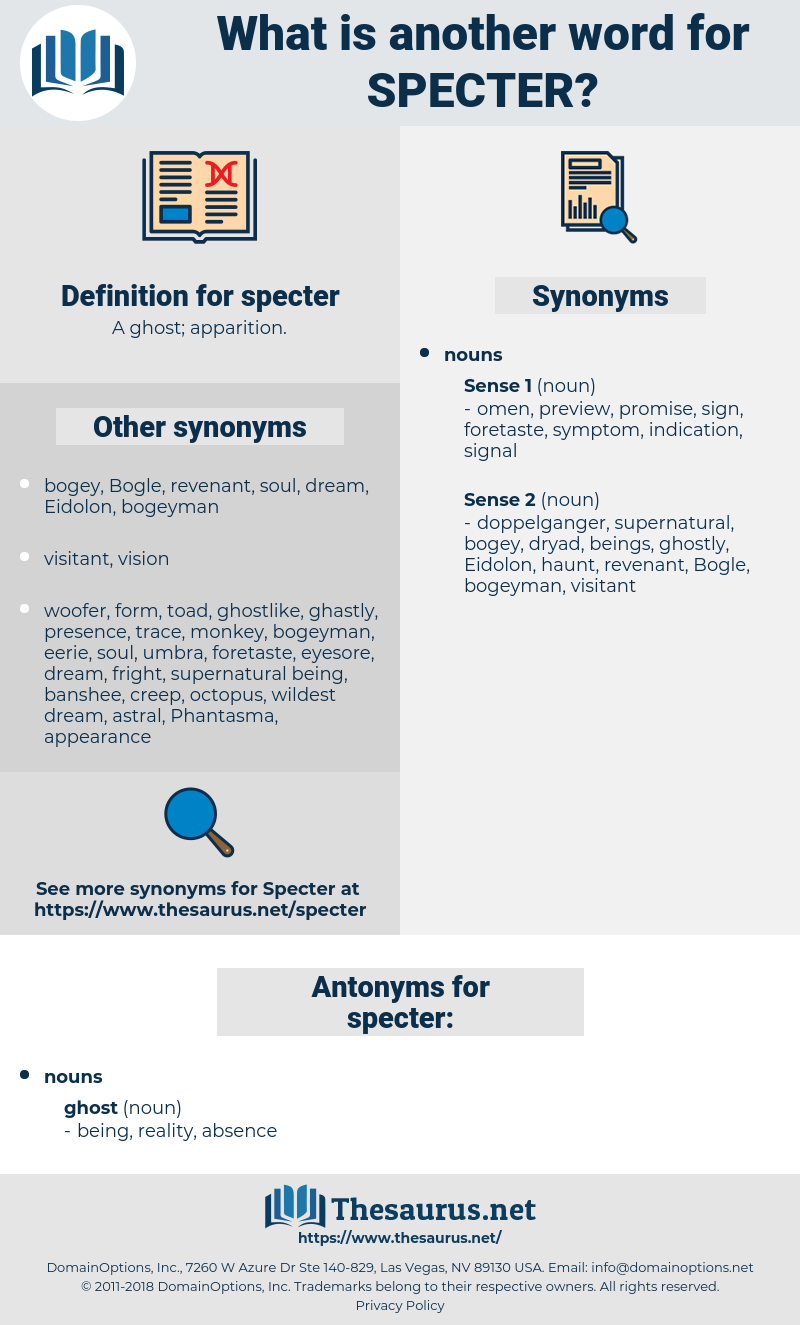 specter, synonym specter, another word for specter, words like specter, thesaurus specter