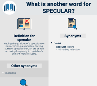 specular, synonym specular, another word for specular, words like specular, thesaurus specular