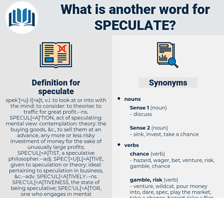 speculate, synonym speculate, another word for speculate, words like speculate, thesaurus speculate