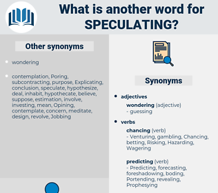 Speculating, synonym Speculating, another word for Speculating, words like Speculating, thesaurus Speculating