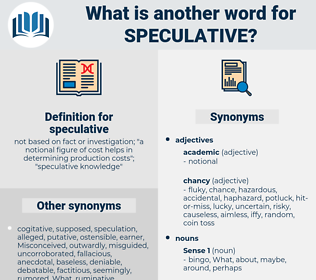 speculative, synonym speculative, another word for speculative, words like speculative, thesaurus speculative