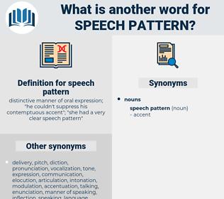 speech pattern, synonym speech pattern, another word for speech pattern, words like speech pattern, thesaurus speech pattern