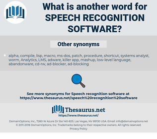 speech recognition software, synonym speech recognition software, another word for speech recognition software, words like speech recognition software, thesaurus speech recognition software