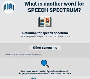 speech spectrum, synonym speech spectrum, another word for speech spectrum, words like speech spectrum, thesaurus speech spectrum