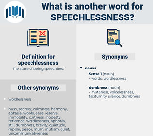 speechlessness, synonym speechlessness, another word for speechlessness, words like speechlessness, thesaurus speechlessness