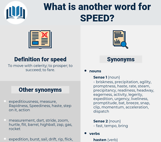 speed, synonym speed, another word for speed, words like speed, thesaurus speed