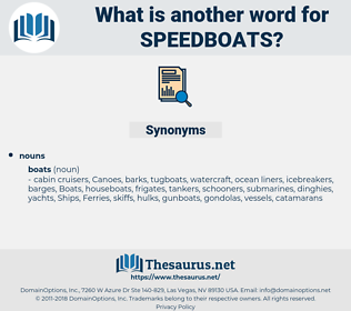 speedboats, synonym speedboats, another word for speedboats, words like speedboats, thesaurus speedboats