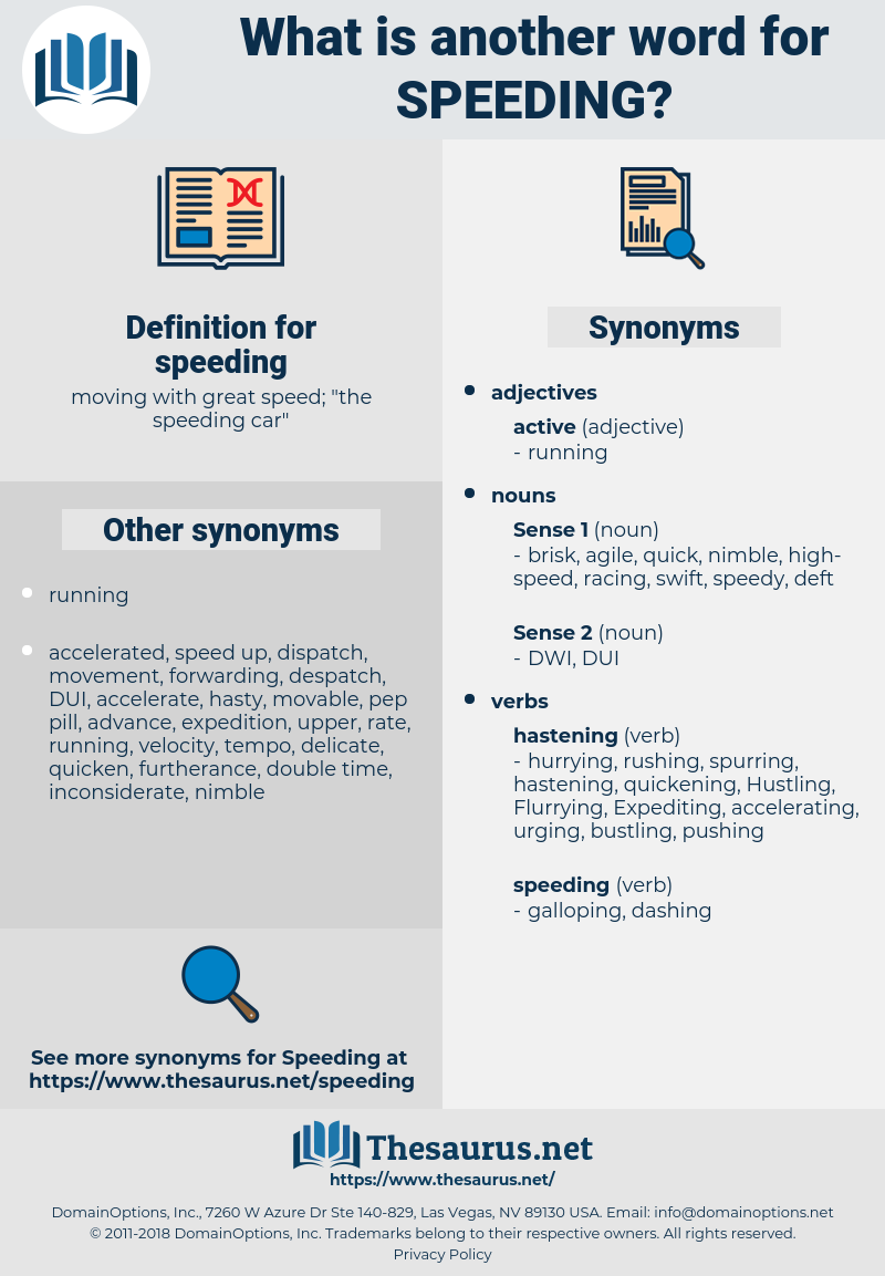 speeding, synonym speeding, another word for speeding, words like speeding, thesaurus speeding