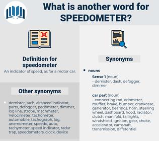 speedometer, synonym speedometer, another word for speedometer, words like speedometer, thesaurus speedometer