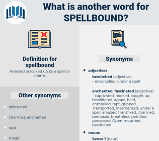 spellbound, synonym spellbound, another word for spellbound, words like spellbound, thesaurus spellbound