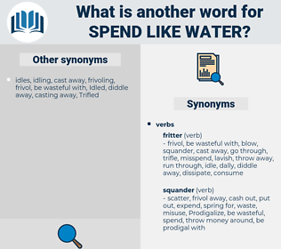 spend like water, synonym spend like water, another word for spend like water, words like spend like water, thesaurus spend like water