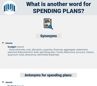 spending plans, synonym spending plans, another word for spending plans, words like spending plans, thesaurus spending plans