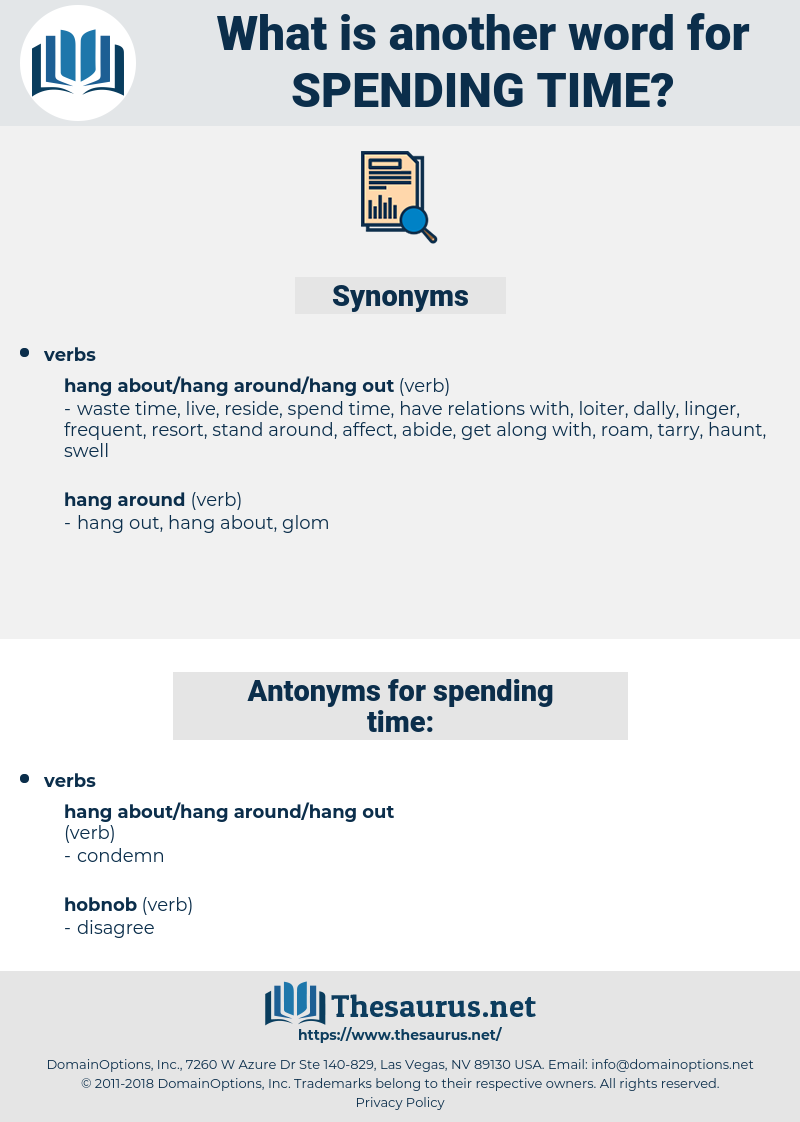 spending time, synonym spending time, another word for spending time, words like spending time, thesaurus spending time