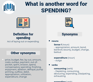 spending, synonym spending, another word for spending, words like spending, thesaurus spending