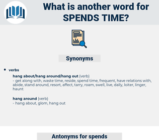 spends time, synonym spends time, another word for spends time, words like spends time, thesaurus spends time