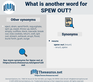 spew out, synonym spew out, another word for spew out, words like spew out, thesaurus spew out