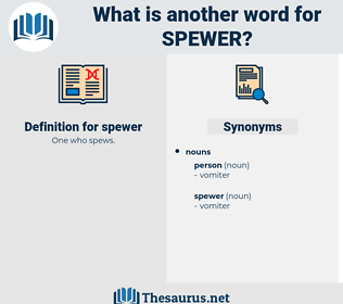 spewer, synonym spewer, another word for spewer, words like spewer, thesaurus spewer