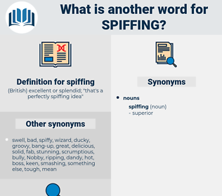 spiffing, synonym spiffing, another word for spiffing, words like spiffing, thesaurus spiffing